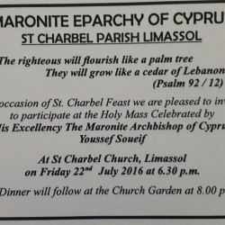 Saint Charbel feast - Limassol